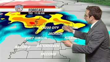 Ethan says there is a chance of a few strong storms.