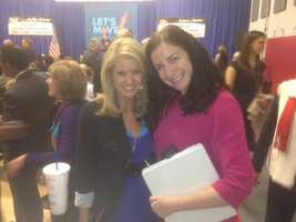 Megan West and the first lady's press secretary.