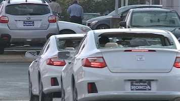 More than 200 cars were damaged by hail at Paul Moak Honda.