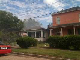 Vicksburg firefighters responded Thursday morning to a house fire.