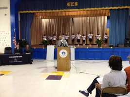 Nissan officials were at Canton Elementary School Thursday to present a grant to the district.