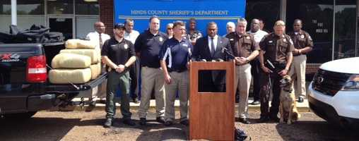 Sheriff Tyrone Lewis announced the drug bust during a news conference Monday in Jackson.