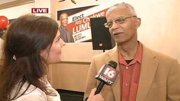 City Councilman Chokwe Lumumba advances to a runoff against Jonathan Lee. The winner will face independent candidates in the general election in June.