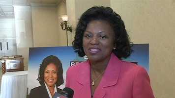 Attorney Regina Quinn, a candidate for Jackson mayor, thanked supporters.