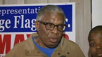 Mississippi Rep. George Flaggs took the lead in Vicksburg, but is awaiting the count of absentee ballots to determine if there will be a runoff.