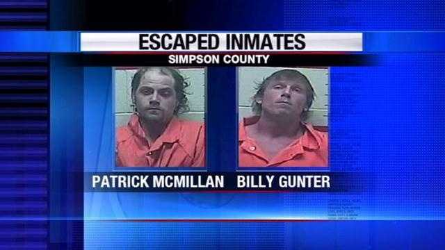 Escaped inmates captured