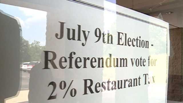 Brandon restaurant tax vote