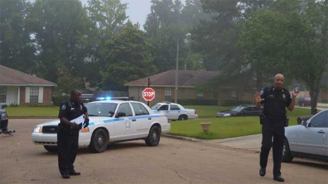 burglar shot scene