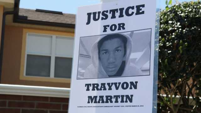 Justice for Trayvon Martin sign