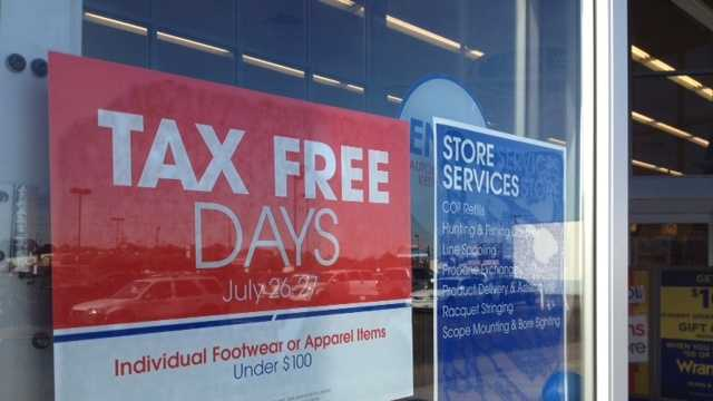 sales tax holiday sign
