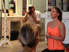 Lululemon Athletics opened its doors Thursday with a yoga class.