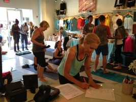 One of the fastest growing makers of athletic apparel is welcoming customers at its new store in Fondren.