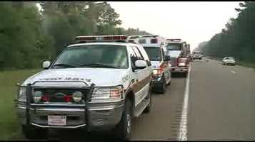 One lane of the interstate was closed for hours on Friday.