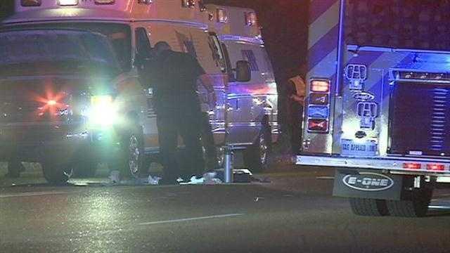 AMR crash pedestrian killed