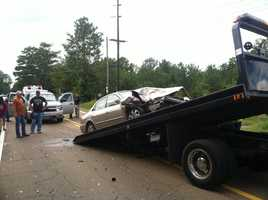 MHP says alcohol may have been a factor in a Rankin County crash that sent two people to the hospital.