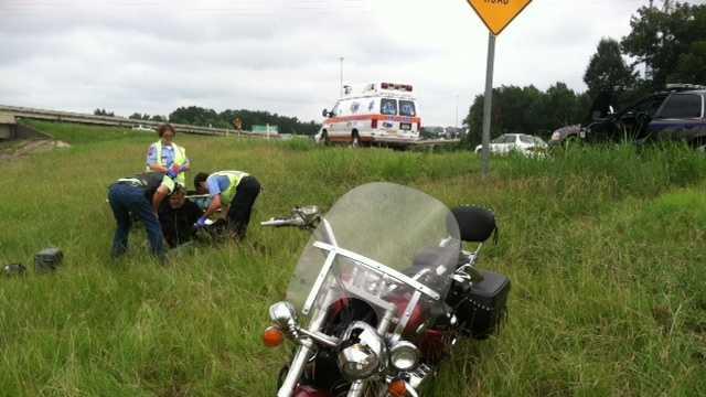 I-20 Motorcycle crash