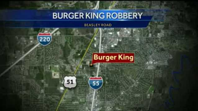 Burger King robbery map