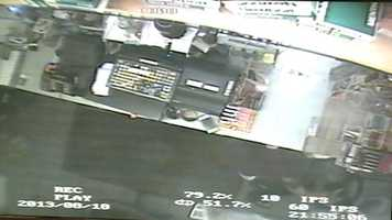 The store clerk was hiding under the counter when the shooting happened.