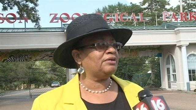 City Councilwoman Larita Cooper Stokes outside the Jackson Zoo.