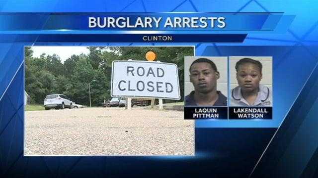 Clinton burglary arrests