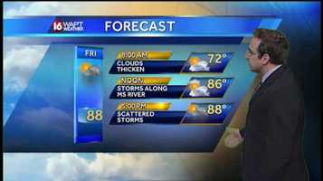 16 WAPT Meteorologist Ethan Huston says scattered storms will begin to pop up across the area Friday afternoon.