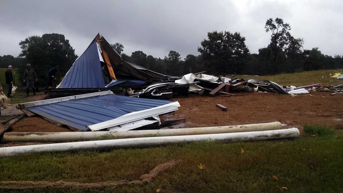 Tornado damage in Rankin County.