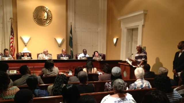 apartment residents at city council