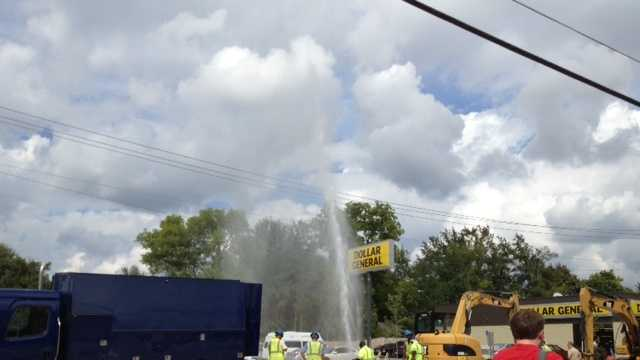 water main break on fortification