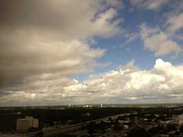 Dark clouds were rolling in on the Mississippi Gulf Coast late Saturday morning.