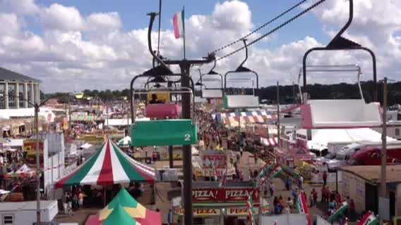 Take a ride above the Mississippi State Fair