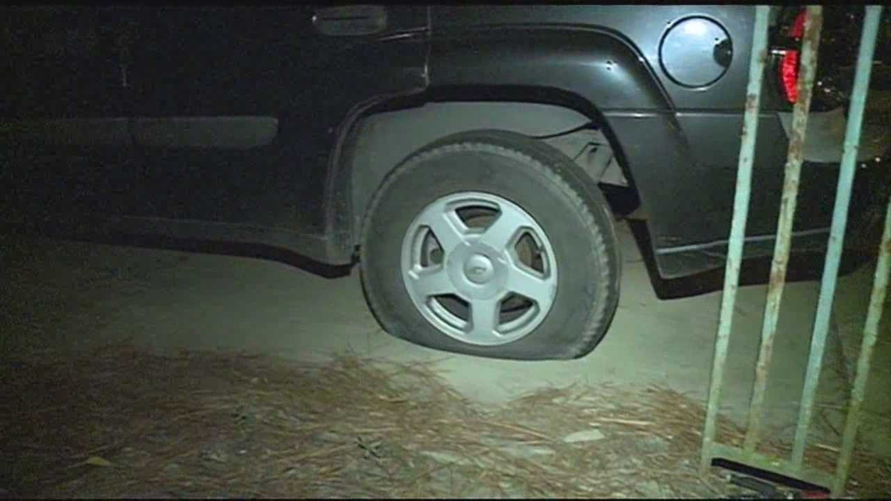 Police are looking for the vandals-- who slashed their way through a jackson neighborhood