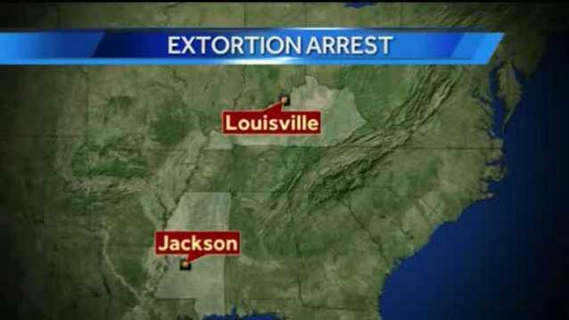 Extortion arrest map