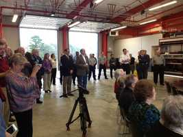 The community was invited to an open house to tour the new fire station.
