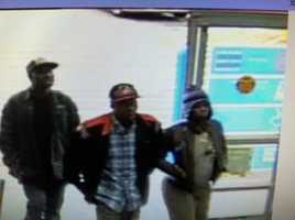 The Hinds County Sheriff's Department releases surveillance photos of three people wanted in connection with a rash of car burglaries.