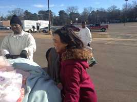 16 WAPT's Tammy Estwick helps out at the Fire Drive for the Salvation Army.