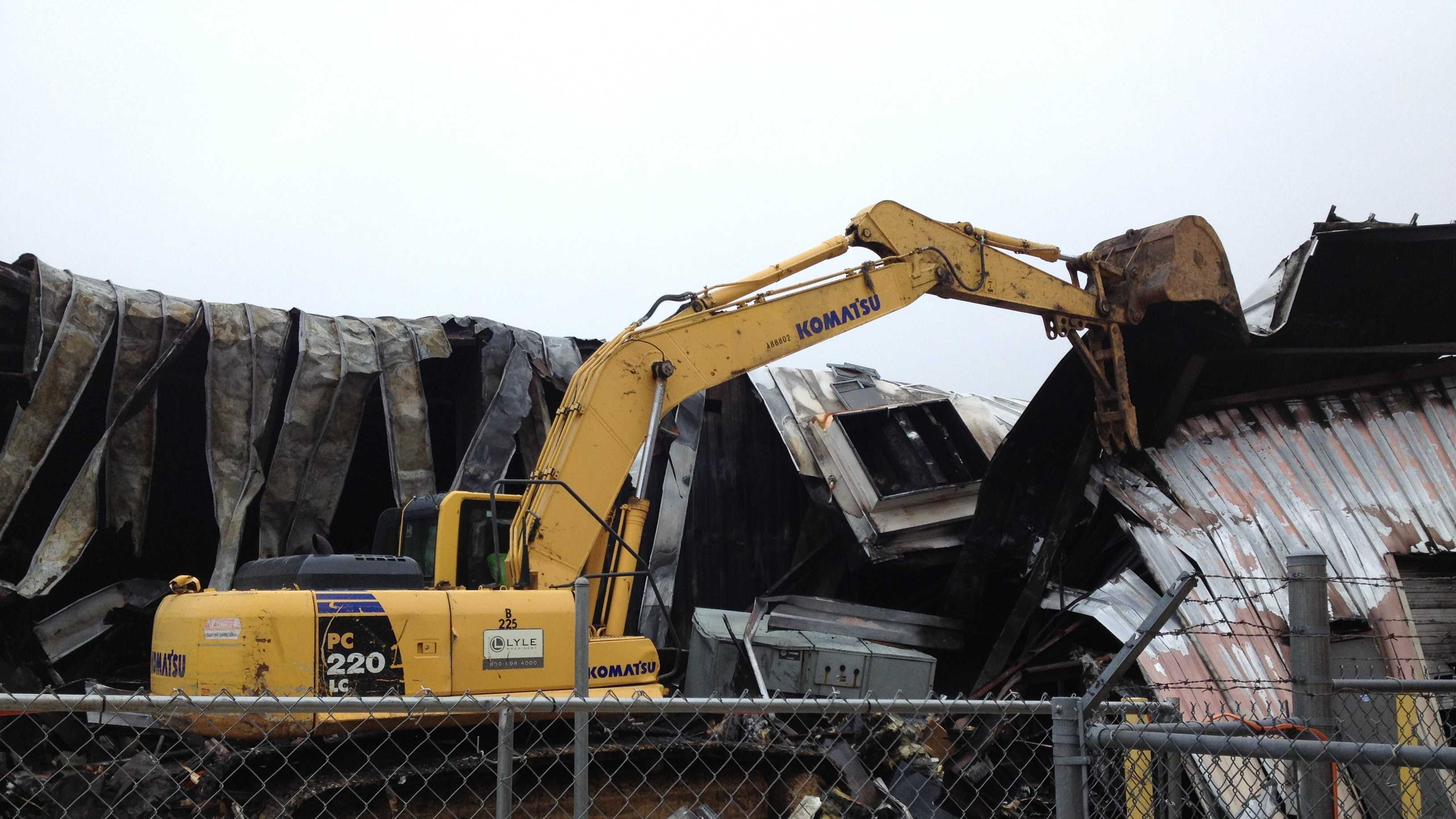 Salvation Army thrift store demolition