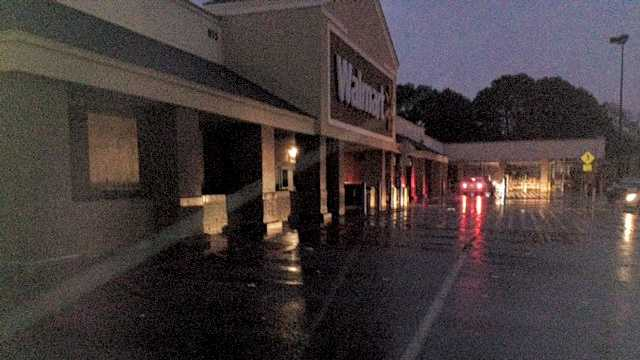 Customers at a Walmart in Ridgeland had to be escorted out of the store during the blackout.