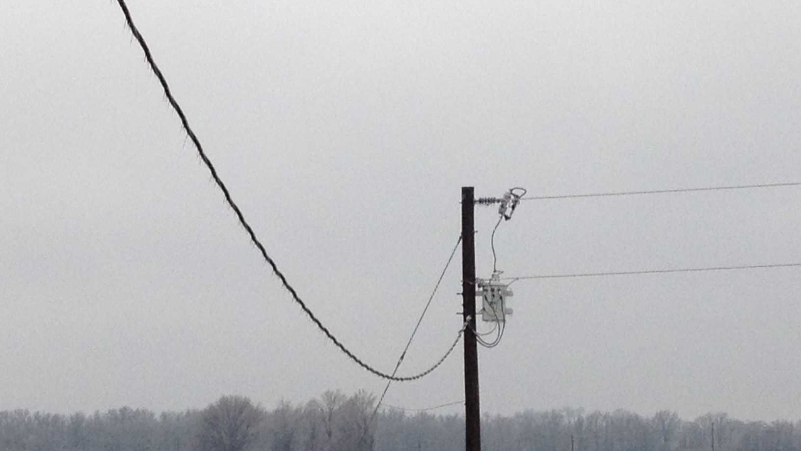 icy power lines