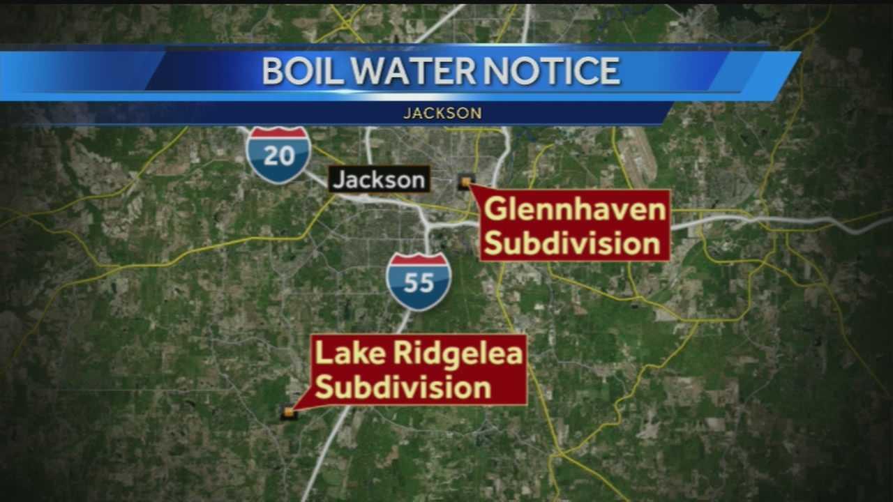 Boil water alert map