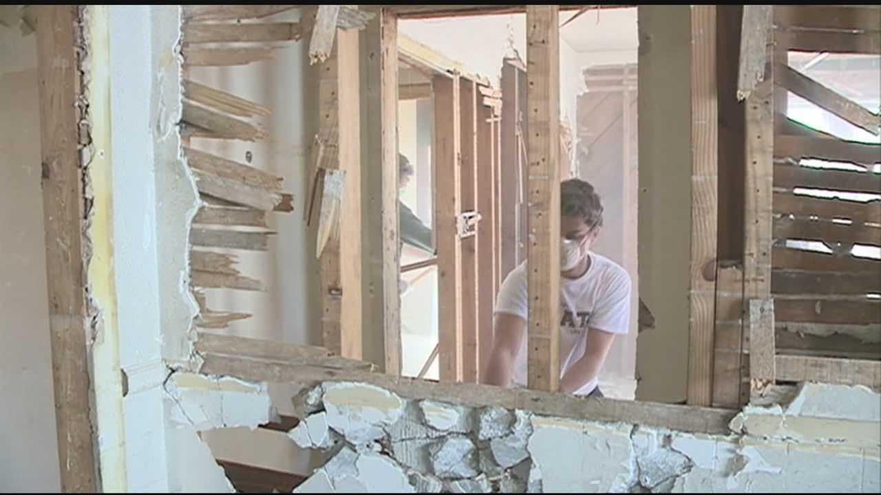 Students demolish vacant homes