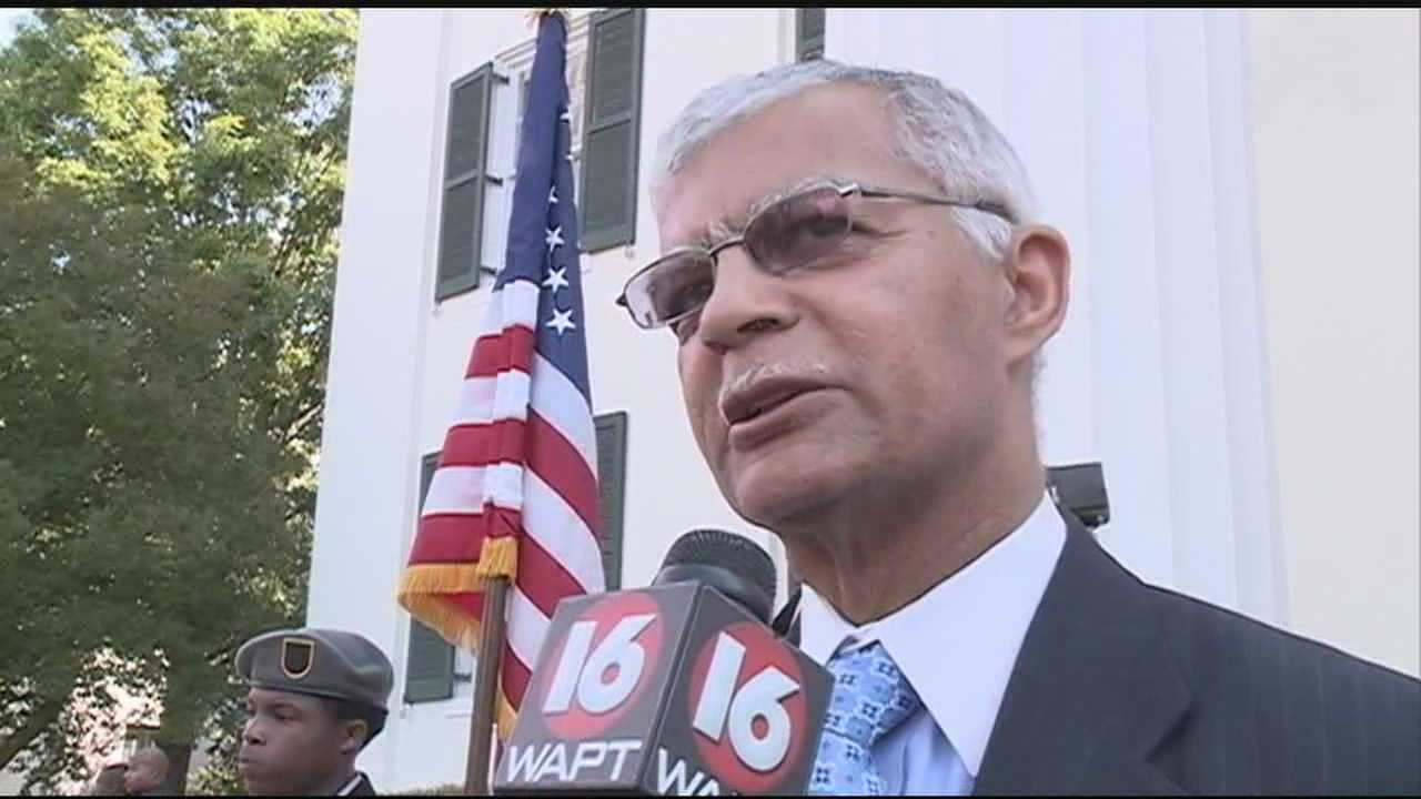 Chokwe Lumumba outside City Hall