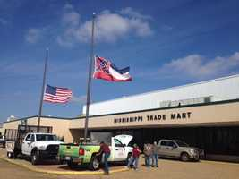 Gov. Phil Bryant on Friday ordered flags at state buildings to be lowered to honor the mayor.