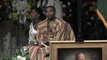 Mayor Chokwe Lumumba's children eulogized their father.