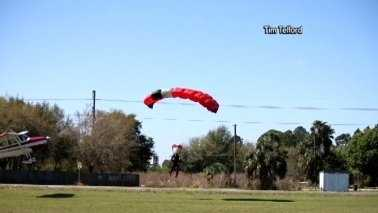 skydiver video