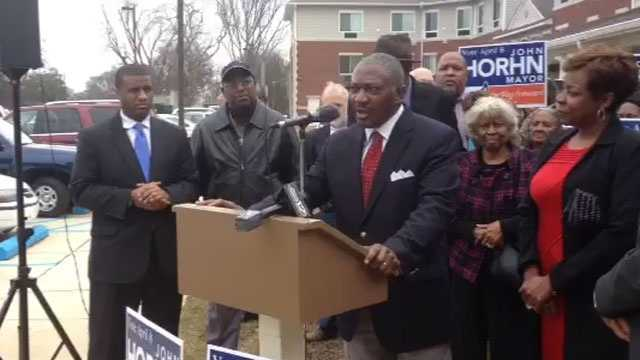 State Sen. John Horhn announces that he is running for Jackson mayor.
