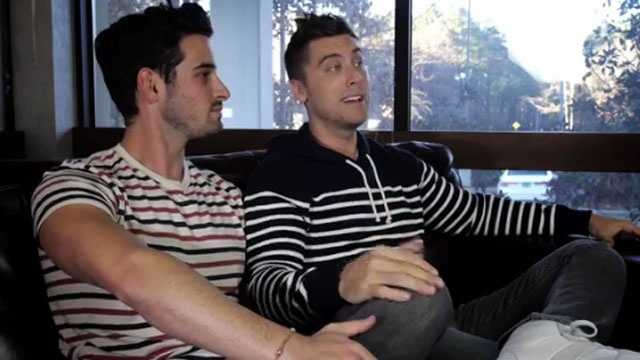 Michael Turchin and Lance Bass in an online ad for the Freedom To Marry campaign.