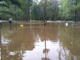 A water park in D'Lo is flooded.