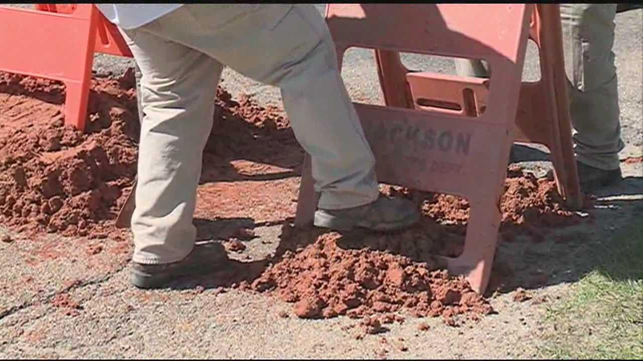 Larson road pothole