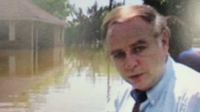 Bert Case covering the flood of 1979.