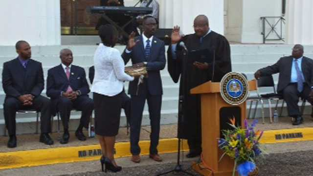 Tony Yarber is sworn in as Jackson mayor.